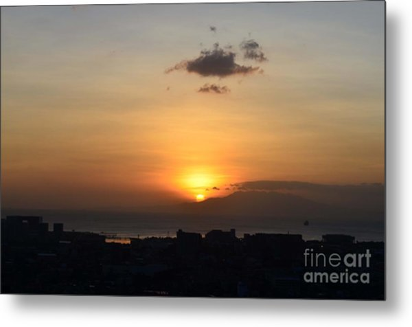 Sunset Upon The Ocean  Metal Print