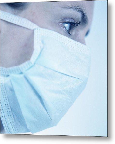 Surgical Mask Metal Print by Cristina Pedrazzini
