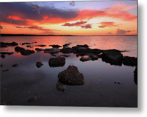Swan Bay Sunset Metal Print by Paul Svensen