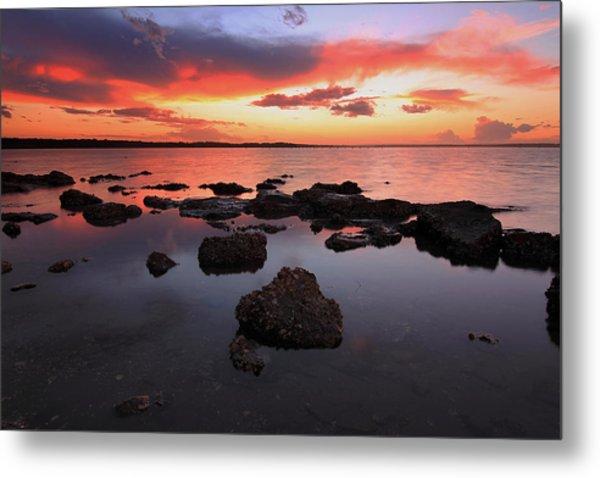 Swan Bay Sunset Metal Print