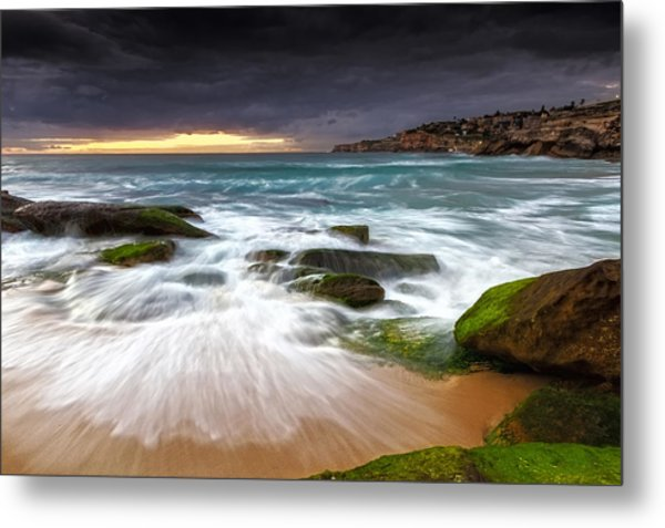 Swirls On The Rock Metal Print