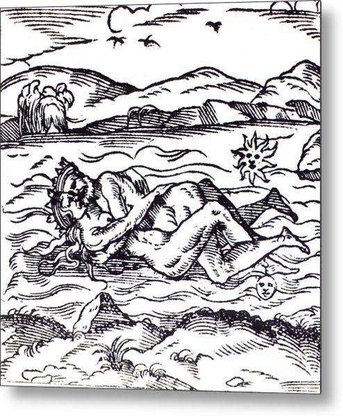 Symbolic Creation Of The Philosophers Metal Print