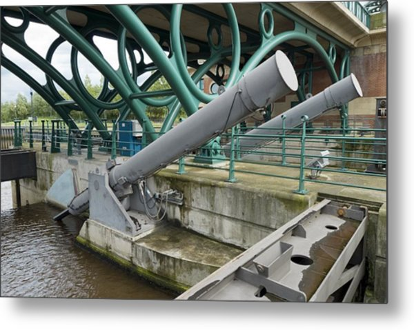 Tees Barrage Metal Print by Adrian Bicker