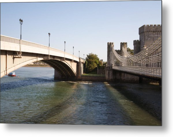 Telford Suspension Bridge Metal Print