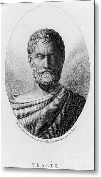 Thales, Ancient Greek Philosopher Metal Print