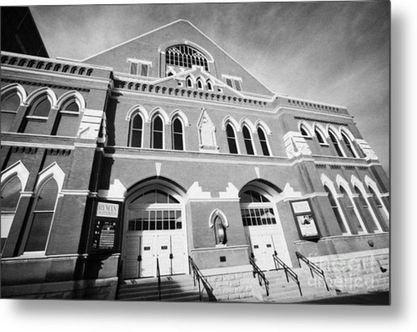 The Ryman Auditorium Former Home Of The Grand Ole Opry And Gospel Union Tabernacle Nashville Metal Print