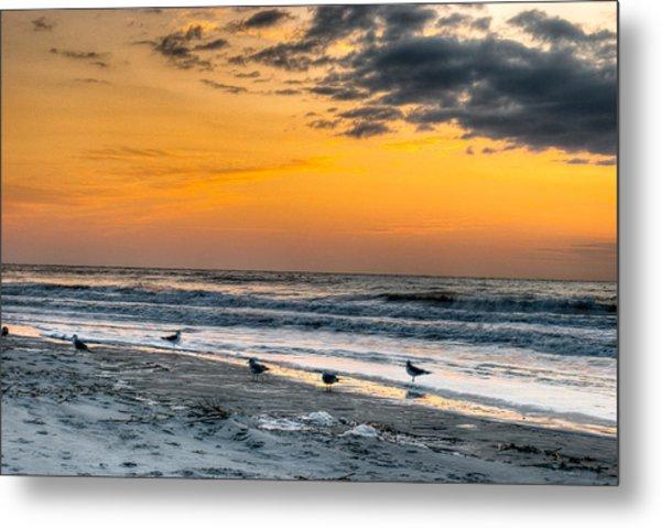 The Wintery Feeling Beach At Sunrise Metal Print