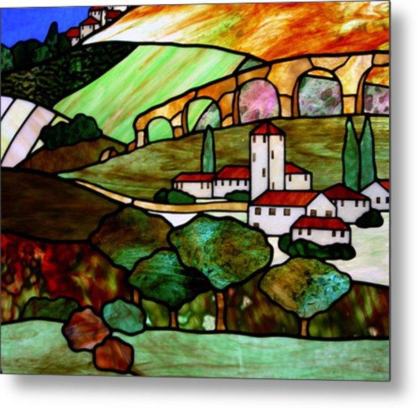 Tuscany Hills Glass Art By Jane Croteau