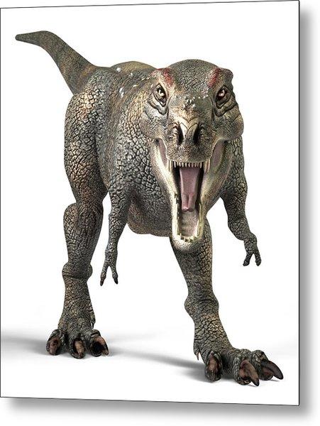 Tyrannosaurus Rex Dinosaur Metal Print by Roger Harris