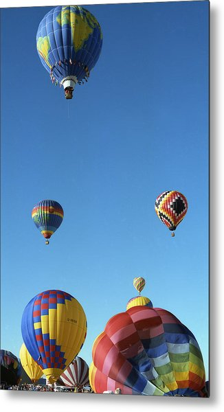Up Up And Away Metal Print by Les Walker