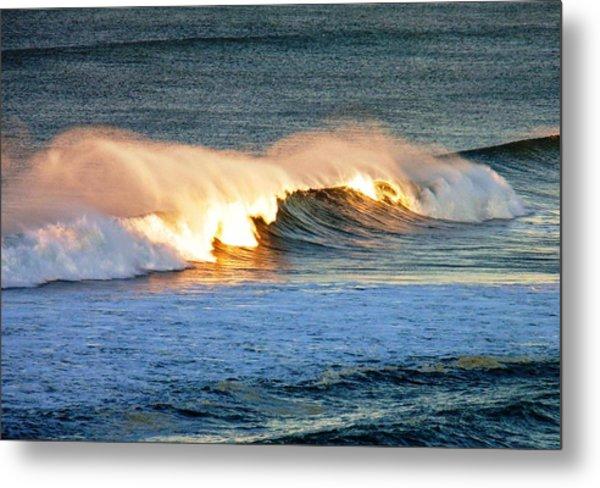 Wave At Sunrise Metal Print