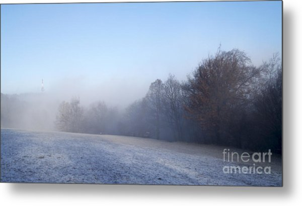 Winter Landscape Metal Print by Odon Czintos