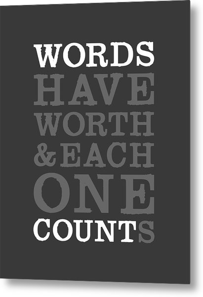 Words Count Metal Print