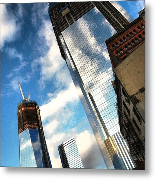 Wtc Never Forget Never Surrender - New Metal Print