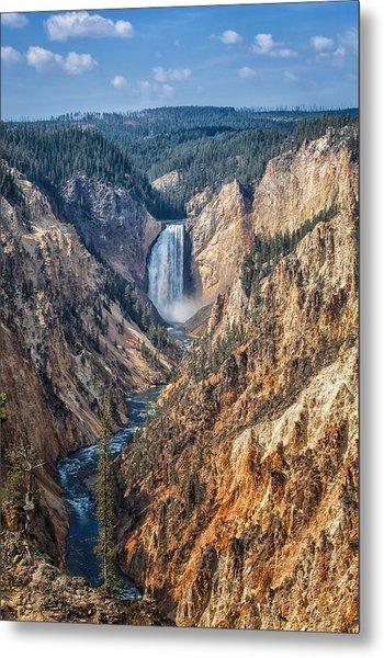 Yellowstone Lower Falls Metal Print