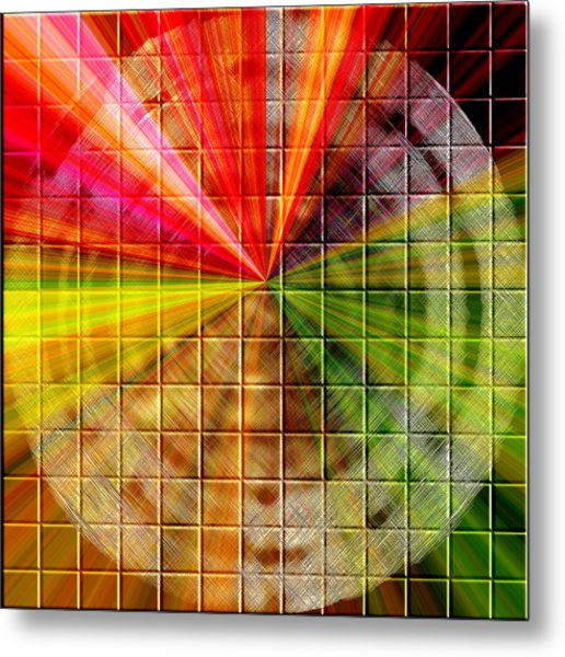 Metal Print featuring the digital art Refraction by Mihaela Stancu