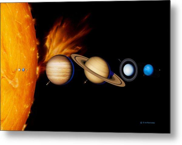 Sun And Its Planets Metal Print by Detlev Van Ravenswaay