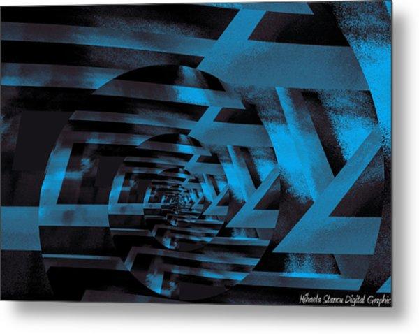 Twirling Metal Print by Mihaela Stancu