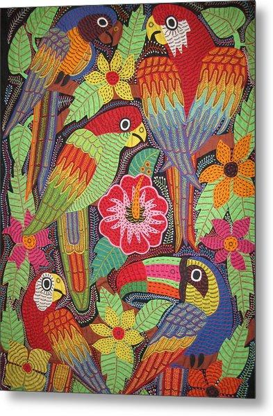 Birds Of Panama Metal Print by Kathy Othon