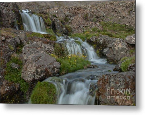 Waterfall Metal Print by Jorgen Norgaard