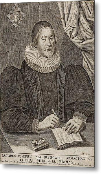 1650 Bishop Usher Portrait 4004bc Metal Print by Paul D Stewart