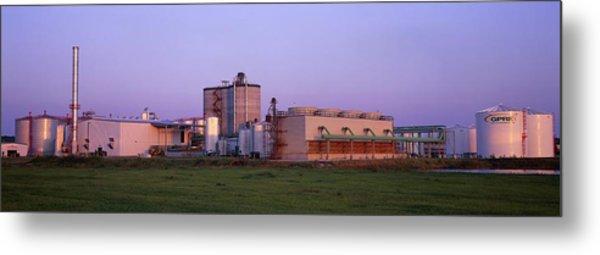 Corn Ethanol Processing Plant Metal Print by David Nunuk