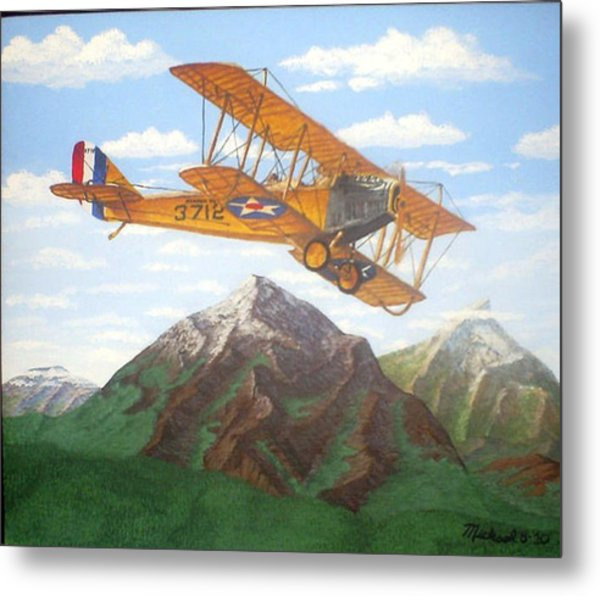 1917 Curtis Jenny Jn4 Used By The Army Air Corps Metal Print by Mickael Bruce