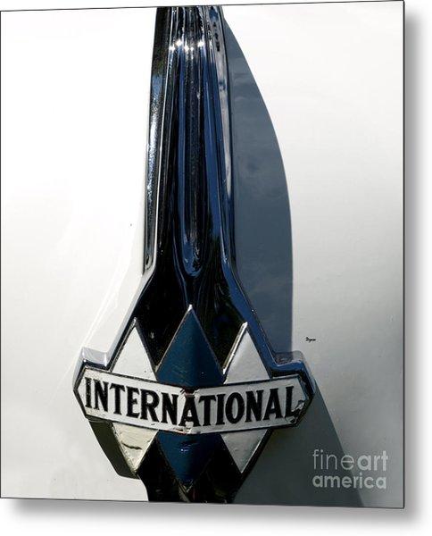 1939 International Hood Ornament  Metal Print by Steven Digman