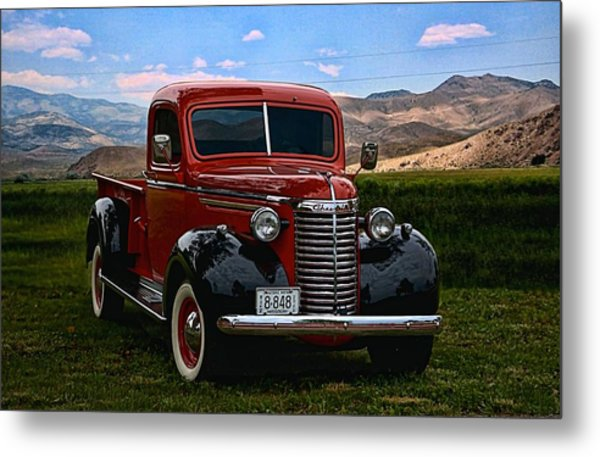 Metal Print featuring the photograph 1940 Chevrolet Pickup Truck by Tim McCullough