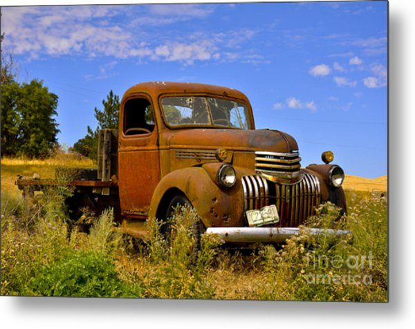 1940's Chevy Truck 2 Metal Print by Camille Lyver