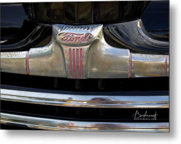 1940s Ford Grill Metal Print