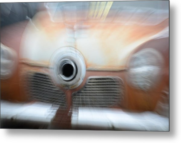 1951 Studebaker Abstract Metal Print
