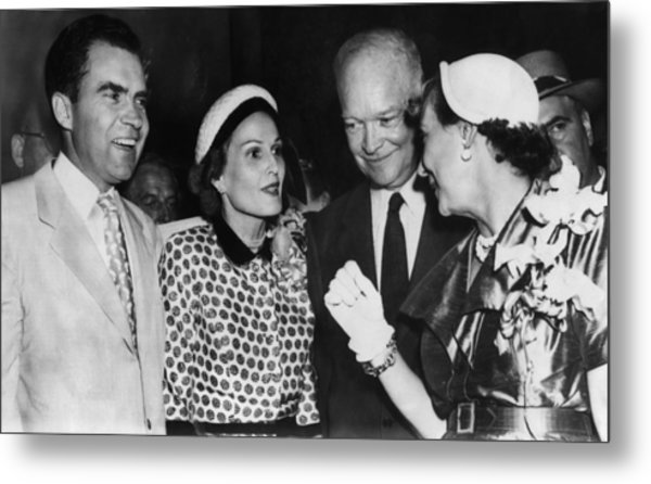 1952 Presidential Campaign. From Left Metal Print by Everett