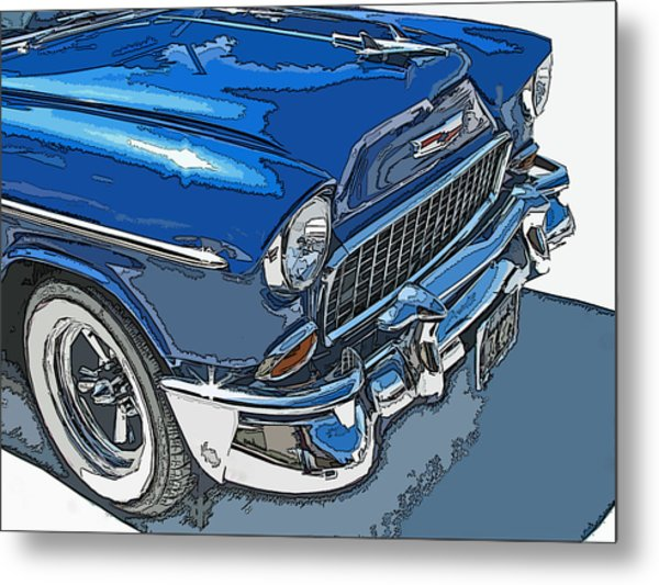 1955 Chevy Bel Air Front Study Metal Print