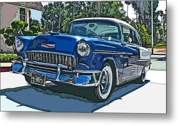 1955 Chevy Bel Air Metal Print