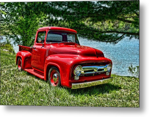 Metal Print featuring the photograph 1956 Ford F100 Pickup Truck by Tim McCullough