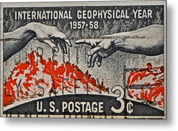 1957-1958 International Geophysical Year Stamp Metal Print
