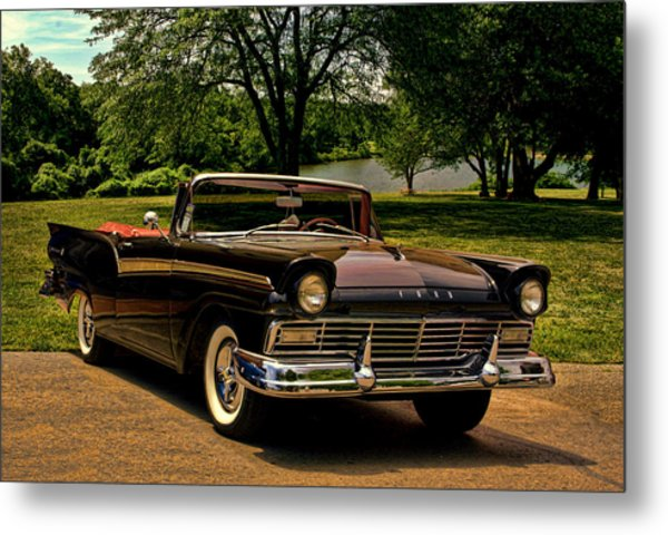 1957 Ford Fairlane 500 Convertible Metal Print