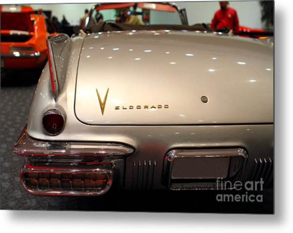 1958 Cadillac Eldorado Biarritz Convertible . Silver . 7d9466 Metal Print by Wingsdomain Art and Photography
