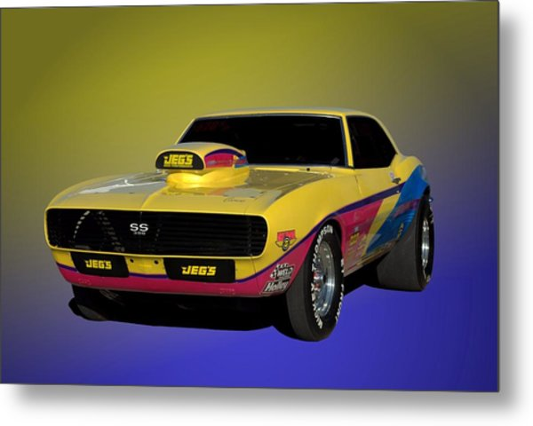 Metal Print featuring the photograph 1968 Camaro Ss 396 Dragster by Tim McCullough