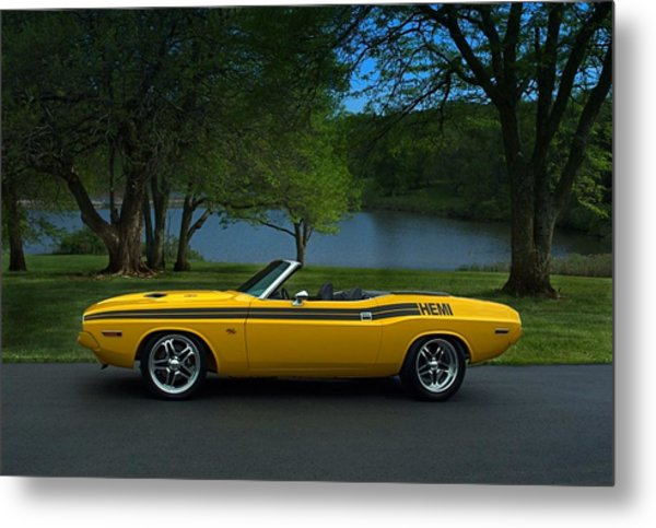Metal Print featuring the photograph 1970 Dodge Challenger Rt Convertible by Tim McCullough