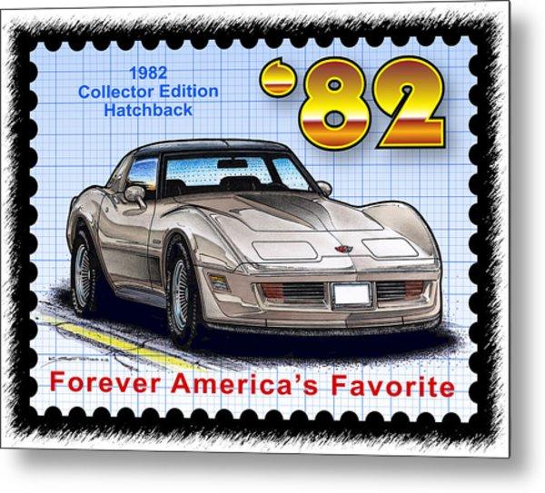 1982 Collector Edition Hatchback Corvette Metal Print