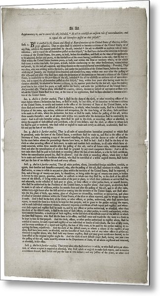 alien and sedition act of 1798 An act concerning aliens section 1 be it enacted by the senate and the house of representatives of the united states of america in congress assembled, that it shall be lawful for the president of the united states at any time during the continuance of this act, to order all such aliens as he.