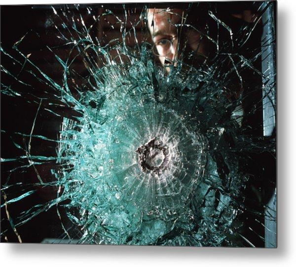 Bulletproof Glass Metal Print by Volker Steger