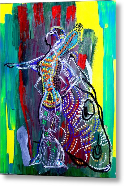 Dinka Lady - South Sudan Metal Print