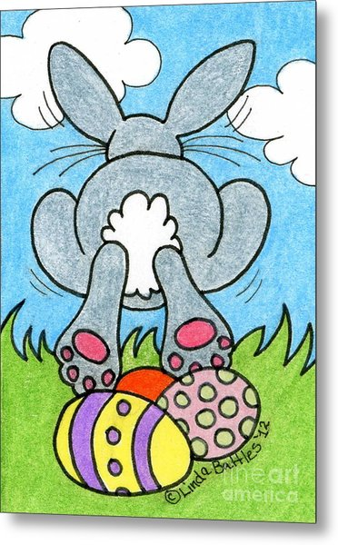 Easter Bunny Retreat Metal Print