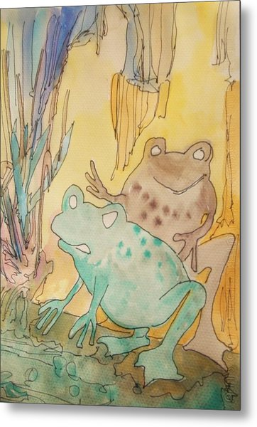 2 Frogs Metal Print by James Christiansen