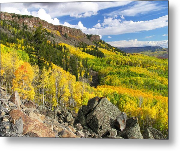 Grand Mesa Autumn Vista Metal Print