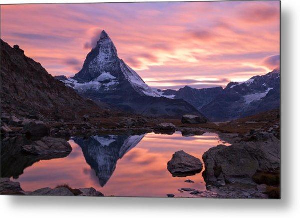 Matterhorn Sunset Metal Print by Mark Haley