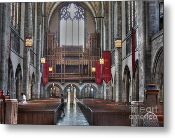 Organ Loft Metal Print by David Bearden